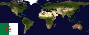 Weltkarte Algerien