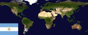 Weltkarte Argentinien