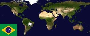 Weltkarte Brasilien