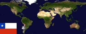 Weltkarte Chile