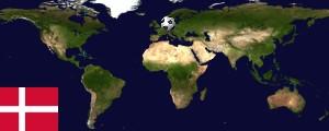 Weltkarte Dänemark