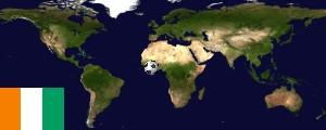 Weltkarte Elfenbeinküste