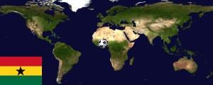 Weltkarte Ghana