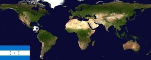 Weltkarte Honduras