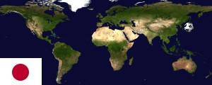 Weltkarte Japan