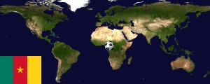 Weltkarte Kamerun