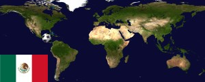 Weltkarte Mexiko