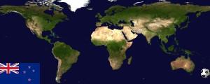 Weltkarte Neuseeland