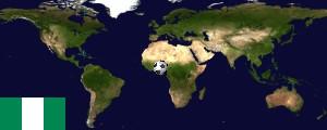 Weltkarte Nigeria