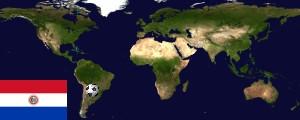 Weltkarte Paraguay