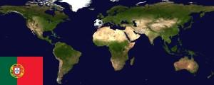 Weltkarte Portugal