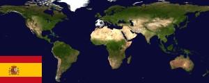 Weltkarte Spanien