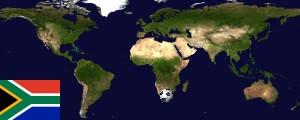 Weltkarte Südafrika