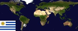 Weltkarte Uruguay