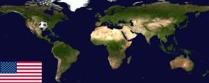 Weltkarte USA