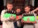 Bierflaschen-Orchester